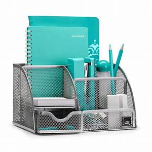 Mindspace, Office, Desk, Organizer, With, 6, Compartments, Drawer, Pen, U0026, Pencil, Holder