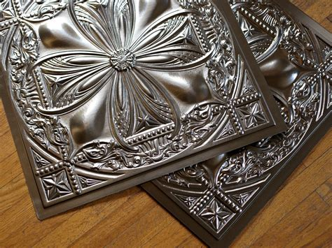 Tin Ceiling Tiles 12x12 by How To Install Tin Ceiling Tiles Hgtv