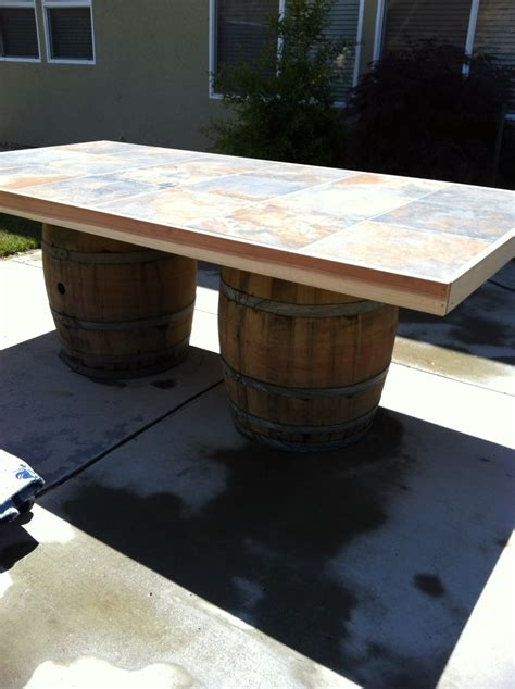 wine barrel outdoor table barrels yes