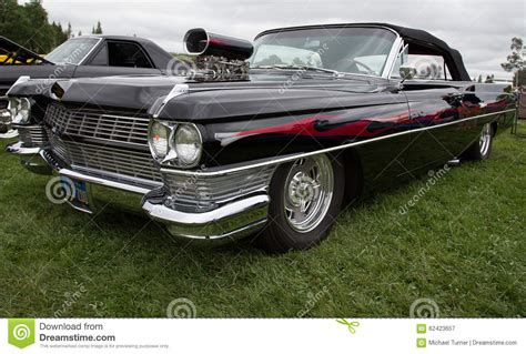 convertible muscle car editorial photography image of