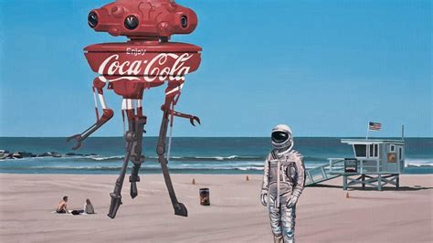 coca cola astronauts beaches drawings fantasy art