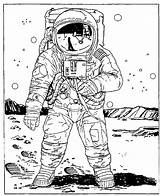 Coloring Astronaut Space Pages Colouring Adults Outer Drawing Drawings Adult Printable Astronauts Cartoon Planetarium Sheets Mobile Moon Easy Paper Bee sketch template