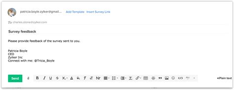 Email Questionnaire Template by Working With Zoho Survey Help Zoho Crm