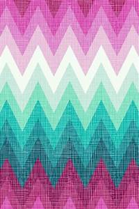 PINK mint and white ombre chevron phone wallpaper ...