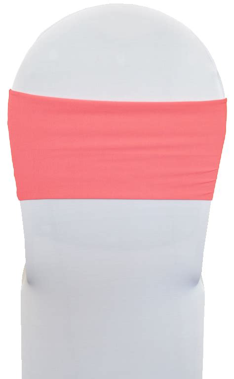 coral spandex stretch chair bands