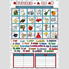 Articles A Or An  Interactive Worksheet