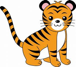 Baby Tiger Clipart Black And White | Clipart Panda - Free ...
