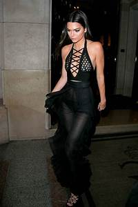 Kendall Jenner bares her bum in most revealing outfit yet during Paris Fashion Week dinner ...