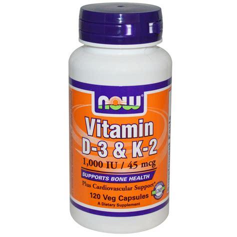 vitamin d l amazon now foods vitamin d 3 k 2 1 000 iu 45 mcg 120