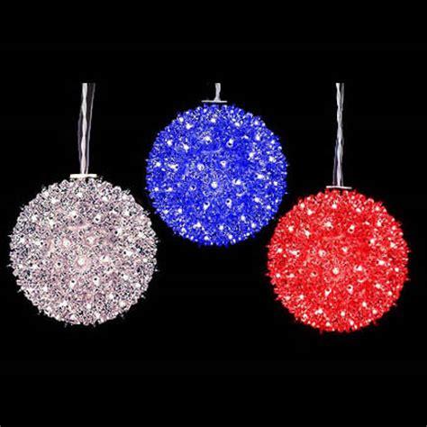 red white blue sphere balls