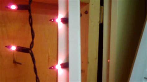 how to hang christmas lights inside windows christmas mini light window frame test youtube