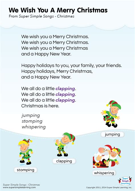 """Lyrics Poster For """"we Wish You A Merry Christmas"""" Holiday"""