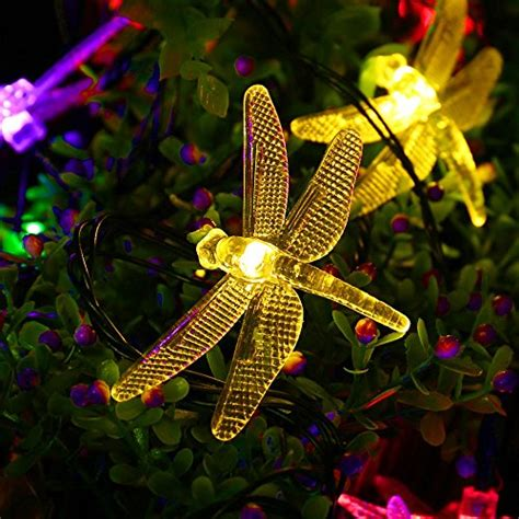 dragonfly outdoor string lights outdoor string lights garden decor solar powered dragonfly