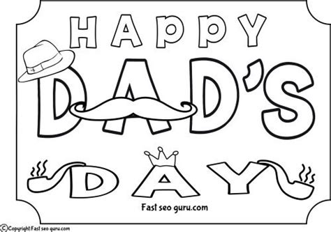 Printable Happy Dads Day Coloring Pages For Kids.free