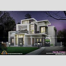 Grand Contemporary Home Design  Kerala Home Design And