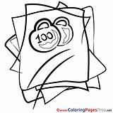Weights Sheet Colouring Coloring Pages Title sketch template
