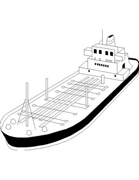 Kleurplaat Binnenvaartschip by Kleuren Nu Grote Olietanker Kleurplaten