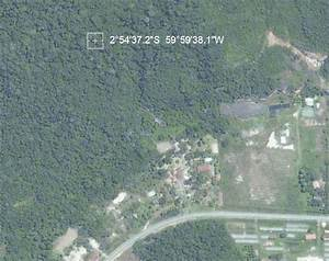 Satellite View Of The Site With Plotted Coordinates  Google Maps