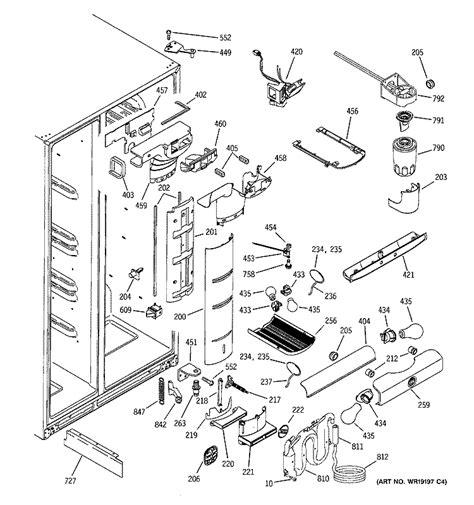 ge monogram side  side refrigerator model zfsbdna ss   problem    set