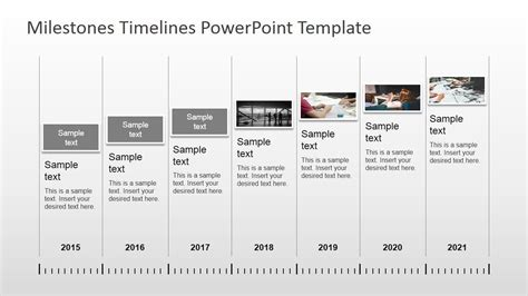 milestones timeline powerpoint template professional