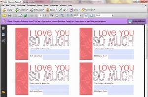 homemade valentineaeurtms day aeur valentine games and other With custom coupons free template