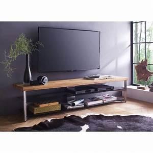 Meuble Tv Design Bois : meuble tv design bois massif et verre cbc meubles ~ Melissatoandfro.com Idées de Décoration