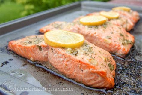 baking salmon baked salmon recipe with garlic and dijon natashaskitchen com