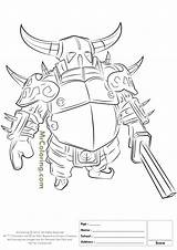 Clash Coloring Royale Clans Pages Pekka Knight Printable Dragon Rider Inferno King Wizard Draw Colouring Mobile Sheets Template Popular Barbarian sketch template