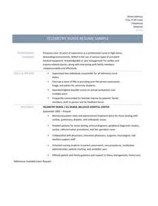 cardiac telemetry nursing resume cardiac telemetry rn resume ebook database