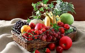 Basket, Full, Of, Fresh, Fruits