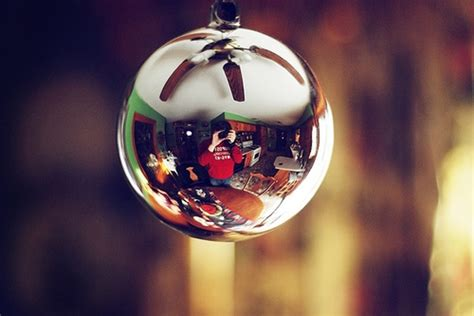mirror christmas ball ornament homemydesign
