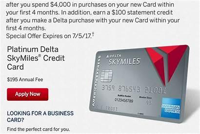 Card Delta Credit Skymiles Express American Platinum