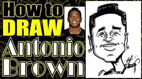 draw  quick caricature antonio brown youtube