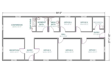 Floor Layouts by Modular Office Or Center Tlc Modular Homes