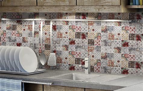 Neutral Bathroom Color Ideas by Top 15 Patchwork Tile Backsplash Designs For Kitchen