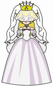 Peach wedding dress 2 by katlime on deviantart for Princess peach wedding dress