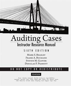 Solution Manual For Auditing Cases  An Interactive
