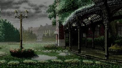 Pixel Landscape Wallpapers Pixelart Park Scene Backgrounds