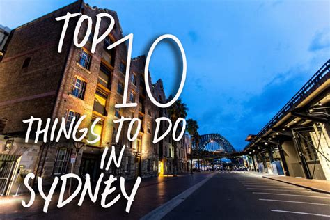 What To Do by A Timers Guide To Sydney Flying The Nest