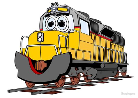 """Cartoon Locomotive Train"" by Graphxpro   Redbubble"
