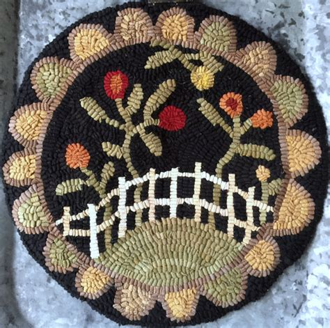Hooked Chair Pad Patterns by Rug Hooking Pattern Chair Pad Hooked Rug Paper Pattern Paper