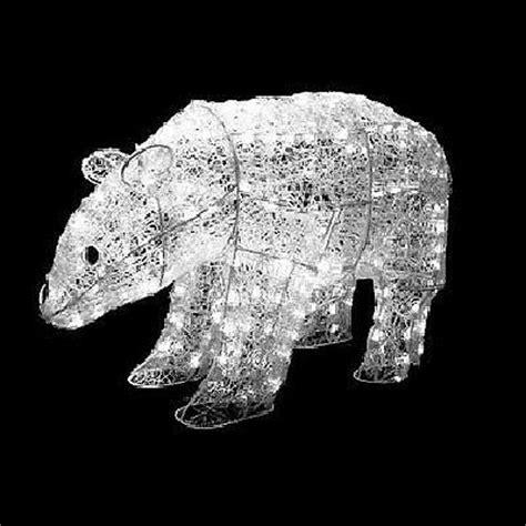 polar bear   twinkling light christmas decoration ebay