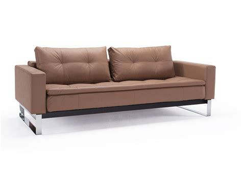 Contemporary Leather Sofa Bed by Contemporary Sofa Bed With Arms Wapped In Fabric Or