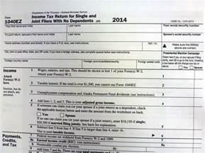 2015 Printable 1040EZ Federal Tax Form