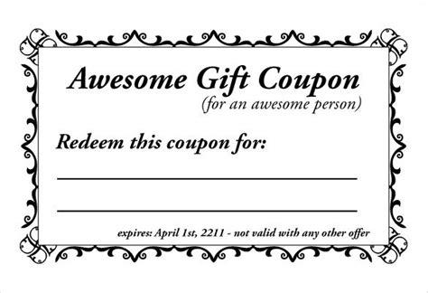 printable blank coupons   aashe