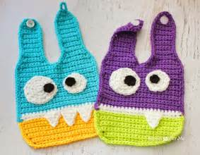 Free Monster Crochet Pattern Baby Bibs