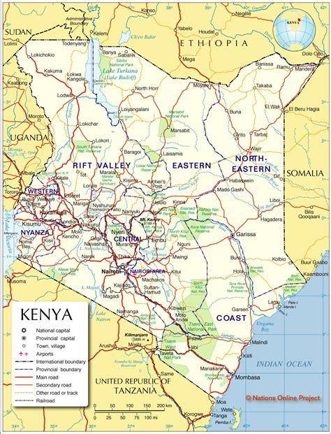 political map  kenya carolines blog