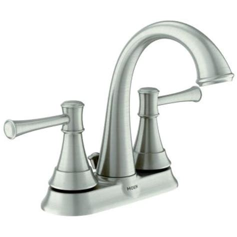 moen ashville 4 in centerset 2 handle bathroom faucet