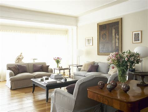 Beige Gray Traditional Family Room   Living Room Design