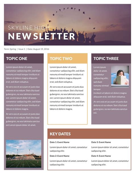 printable newsletter templates email newsletter